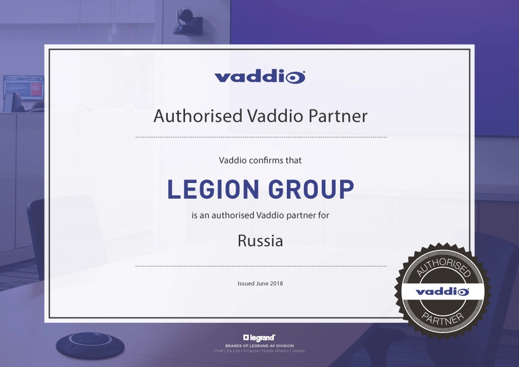 Vaddio - EMEA authorized partner certificate_LEGION GROUP.jpg